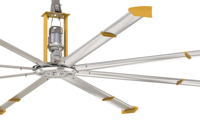 Bộ 8 cánh thiết kế với hiệu suất luồng gió tối đa