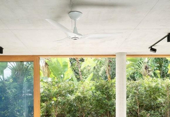Quạt trần Haiku dành cho nhà tiêu chuẩn thiết kế công trình xanh với công nghệ SenseME
